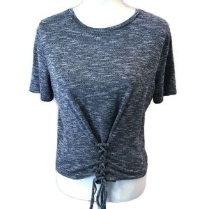 LOVE FIRE Tight Knitted lace up sweater Size Large